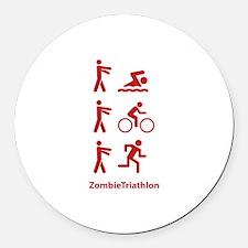 ZombieTriathlon Round Car Magnet