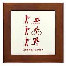 ZombieTriathlon Framed Tile
