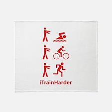 iTrainHarder Throw Blanket