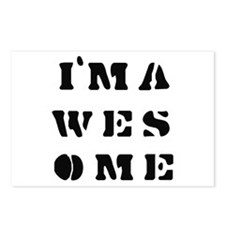 I'm Awesome -  Postcards (Package of 8)