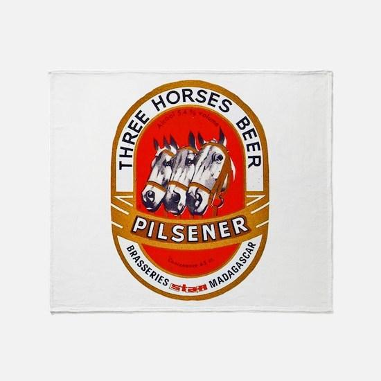 Madagascar Beer Label 1 Throw Blanket