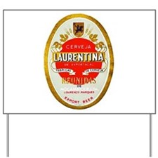 Mozambique Beer Label 1 Yard Sign