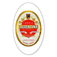 Mozambique Beer Label 1 Decal