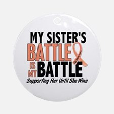 My Battle Too Uterine Cancer Ornament (Round)