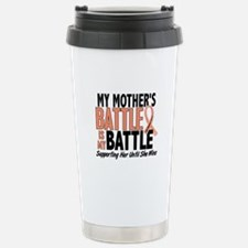 My Battle Too Uterine Cancer Stainless Steel Trave