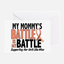 My Battle Too Uterine Cancer Greeting Card