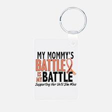 My Battle Too Uterine Cancer Keychains
