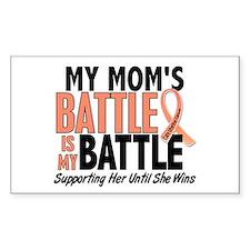 My Battle Too Uterine Cancer Decal