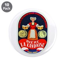 "Ivory Coast Beer Label 1 3.5"" Button (10 pack)"