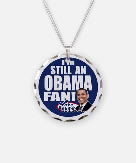 Obama Fan 2012 Necklace Circle Charm