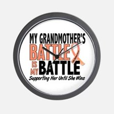 My Battle Too Uterine Cancer Wall Clock