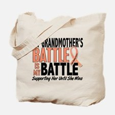 My Battle Too Uterine Cancer Tote Bag