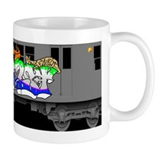 f train subway new york queens graffiti Mug