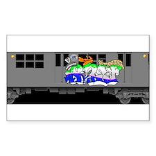 f train subway new york queens graffiti Decal