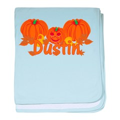 Halloween Pumpkin Dustin baby blanket