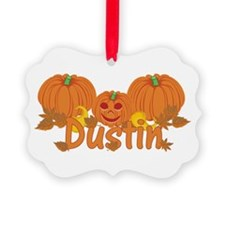 Halloween Pumpkin Dustin Ornament