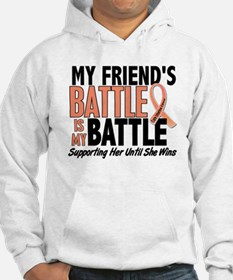 My Battle Too Uterine Cancer Hoodie