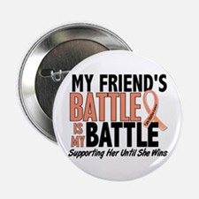 "My Battle Too Uterine Cancer 2.25"" Button"