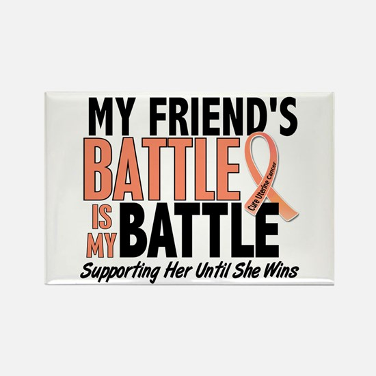 My Battle Too Uterine Cancer Rectangle Magnet