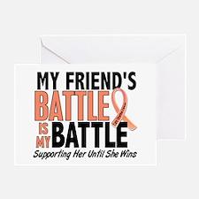 My Battle Too Uterine Cancer Greeting Card