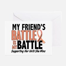 My Battle Too Uterine Cancer Greeting Cards (Pk of
