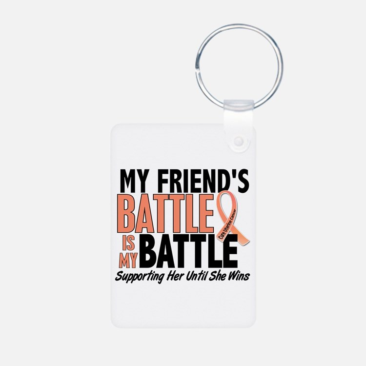 My Battle Too Uterine Cancer Keychains