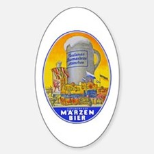 Germany Beer Label 11 Sticker (Oval)