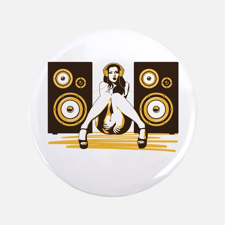 """Music Please 3.5"""" Button (100 pack)"""