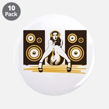 """Music Please 3.5"""" Button (10 pack)"""