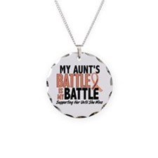 My Battle Too Uterine Cancer Necklace Circle Charm