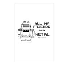 All my friends are metal -  Postcards (Package of