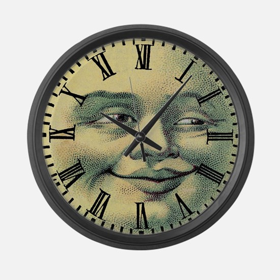 Vintage Moonface Large Wall Clock