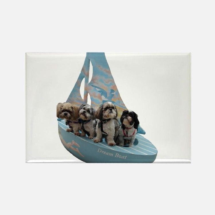 Dream Boat Boys Rectangle Magnet