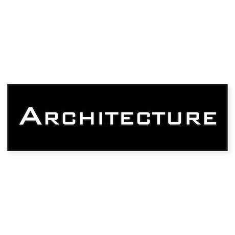 Bold Architecture Bumper Sticker