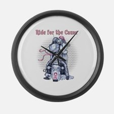 Ride for the Cause 2000x2000.png Large Wall Clock
