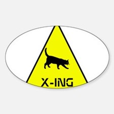 Kitty Crossing Decal