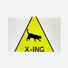 Kitty Crossing Rectangle Magnet