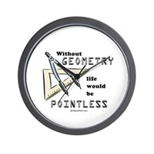 Without geometry, life is pointless -  Wall Clock