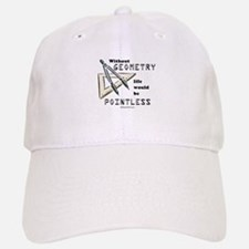 Without geometry, life is pointless - Baseball Baseball Cap