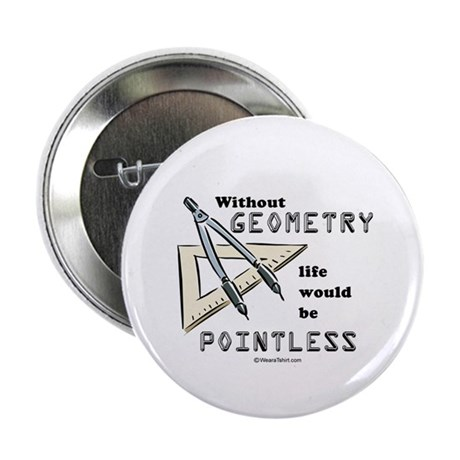 Without geometry, life is pointless - Button