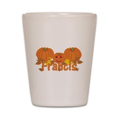 Halloween Pumpkin Francis Shot Glass