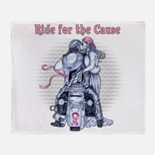 Ride for the Cause 1380x1680.png Throw Blanket