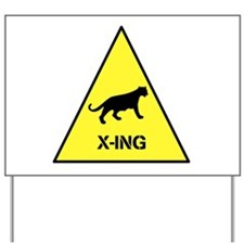 Big Cat Crossing Yard Sign