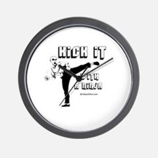 Kick it with a Ninja -  Wall Clock