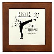 Kick it with a Ninja - Framed Tile