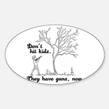 Don't hit kids - Oval Decal