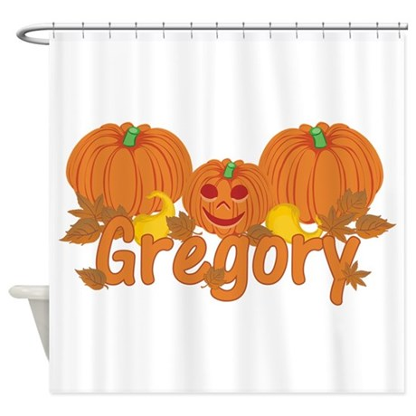 Halloween Pumpkin Gregory Shower Curtain By Sunnydaysboys