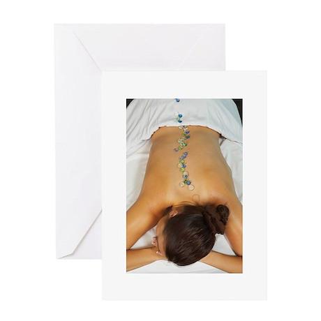 Cool Stone Massage Greeting Card