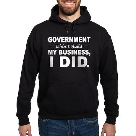Government Didnt Build It Hoodie (dark)