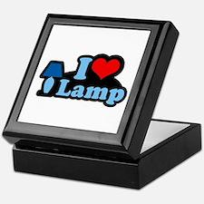 I heart lamp - Keepsake Box